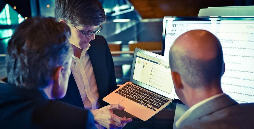 Twitter-Schulung im Rahmen des Swiss Media Forums 2012 im KKL Luzern.