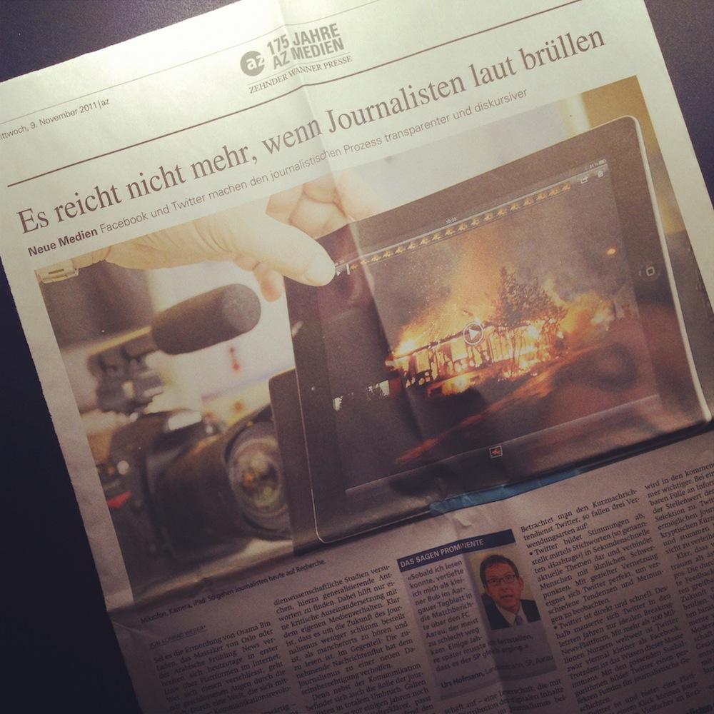 Zukunft des Journalismus – Aargauer Zeitung