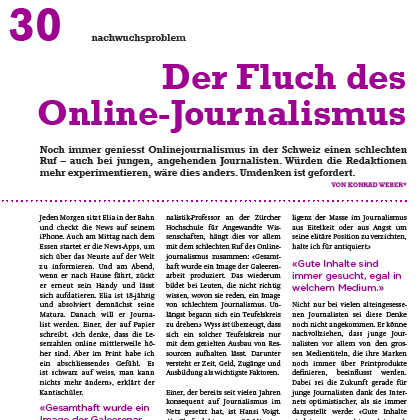 Magazin zum SwissMediaForum 2012