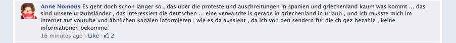 Kommentar von Anne Nomous