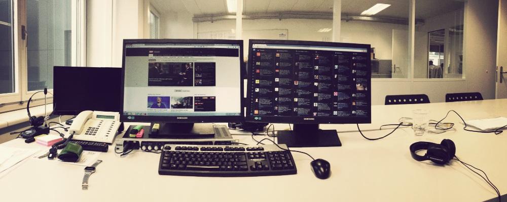 Ein Arbeitsplatz mit Abwechslung: Blick hinter die Kulissen eines Multimedia-Journalisten.