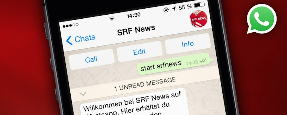 Whatsapp bei SRF News.