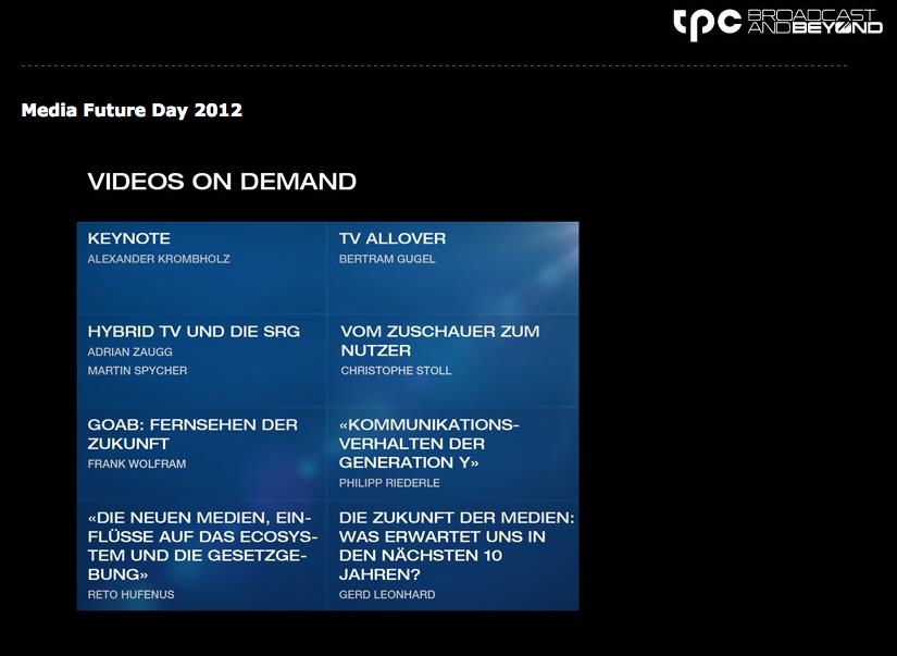 Zur Zukunft des Fernsehens – Media Future Day 2012