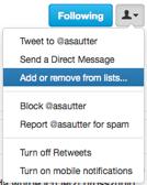 Benutzer bestimmten Listen hinzufügen