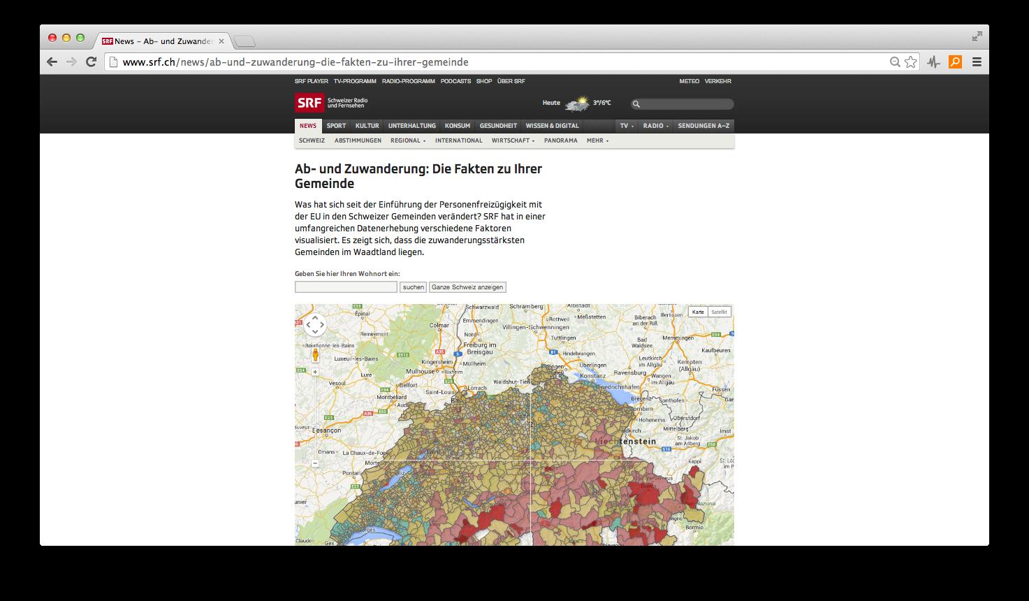 Datenjournalismus: Flickenteppich der Zuwanderung