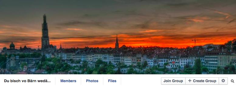 Screenshot einer Facebook-Seite.