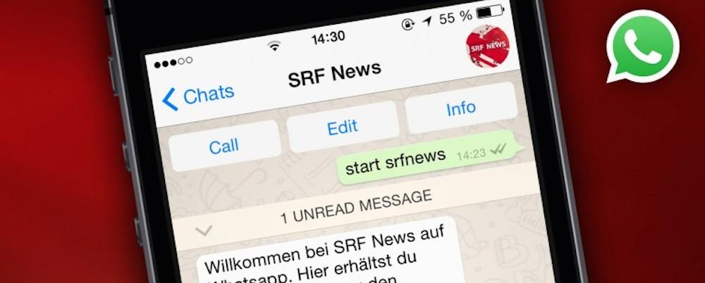 Weshalb wir bei SRF Whatsapp einsetzen
