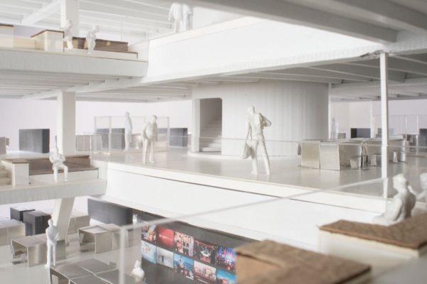 Visualisierung des neuen Newsrooms von SRF. – Bild: Penzel Valier AG
